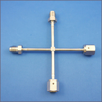 VCR付ガス配管チューブX型(オーダーメイド)